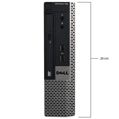 DELL Optiplex 780 USFF DualCore 3,0 GHz / 4 GB / 120 SSD / DVD / Windows 7 Prof.