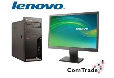 Zestaw Lenovo M57 Core 2 Duo 2,4 GHz / 4 GB / 160 GB / DVD-RW / Win 10 (Update) + LCD ThinkVision L2250p (22 cale)